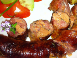 Saucisse au foie gras (30%) les2, +/- 300g